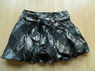 Bnwt Next Girls Age 6 Years Silver/black Puffball Party Skirt