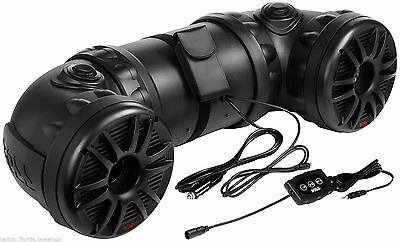 BOSS Audio 8-inch Bluetooth ATV UTV All Terrain Amplified Speaker System ATV85B