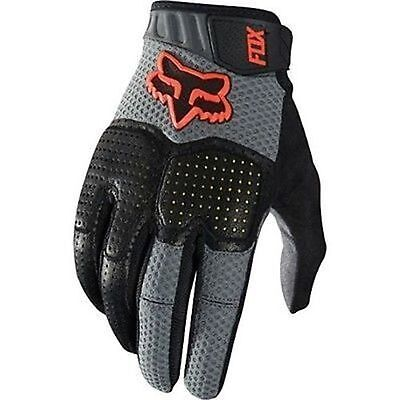 Fox Unabomber Full Finger Padded Mountain Bike Glove Grey Size Small New