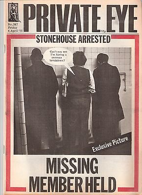 Private Eye Mag # 347  4 April 1975 John Stonehouse MP Walsall Wednesbury cover