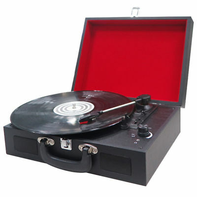 Encore Retro 3-speed Turntable w/ Built-in Stereo Speakers/Vinyl Record Player