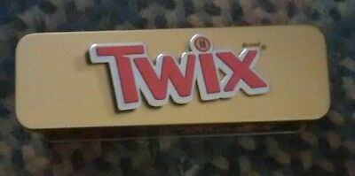 Collectible Mars Twix Twin Bar Minis Tin Hinged Container