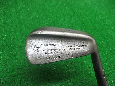 Maxwell Hickory Flanged Baxpin Mashie Superior vintage golf clubs