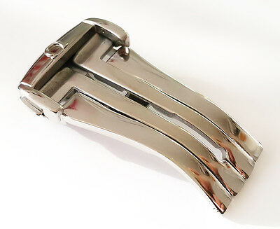 NEW 18mm OMEGA STAINLESS STEEL Deployment Buckle watch band FOR LEATHER STRAP