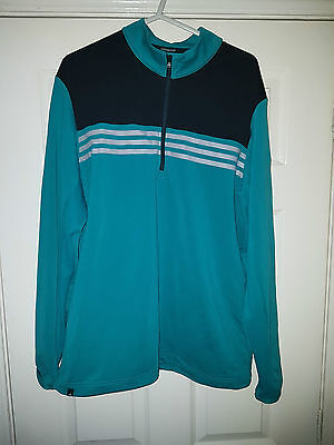 Adidas Climacool  Training Top In Green Black/grey Size M Mens