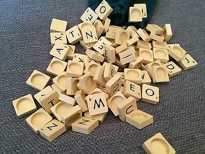 Scrabble Tiles With Bag