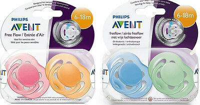 4-Pack Philips Avent Free Flow Pacifiers, 6-18 Months