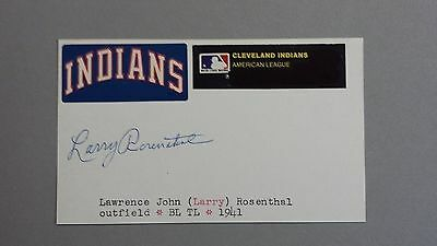 """Larry Rosenthal Autographed 3"""" x 5"""" Index Card"""