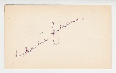 """Charlie Silvera Autographed 3"""" x 5"""" Index Card"""