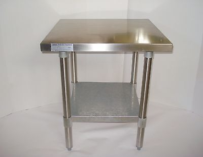 "24x24"" Stainless Steel Commercial Kitchen CALIF RESTAURANT EQUIP Food Prep Table"