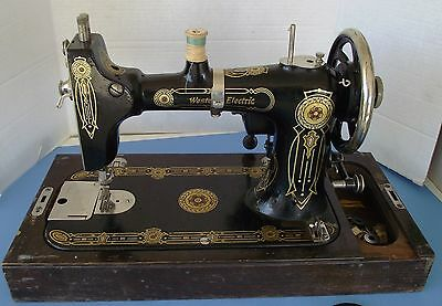 Western Electric Vintage Sewing Machine With Wooden Case, circa pre-1918