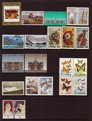 CANADA....  x21 different used stamps to $5