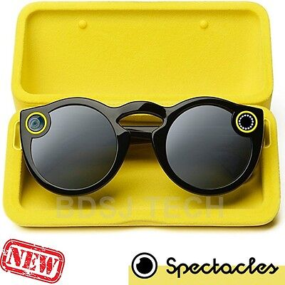 Snap Spectacles - Smart Phone Camera Glasses SnapChat BLACK (Sealed Retail)
