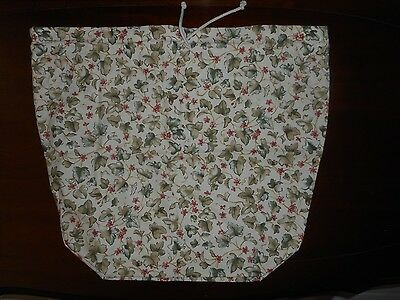 "Longaberger Basket Liner - Ivy design with drawstring across top 20"" x 19"""