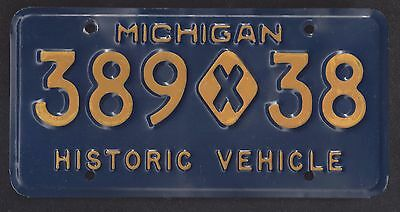 Vintage Michigan Historic Vehicle License Plate