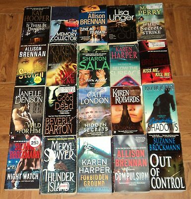 """ROMANTIC SUSPENSE"" PAPERBACK COLLECTION - Lot of 20 - Lots of Great Reading!!"