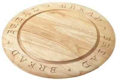 Bread Board Round Carved