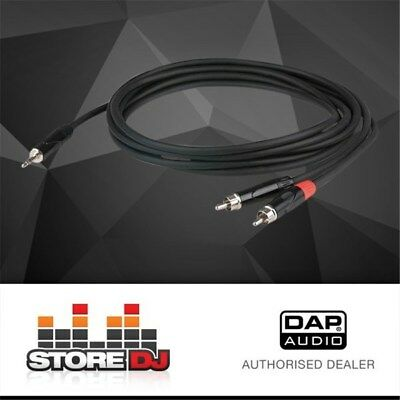 DAP Audio FLX-303 Stereo 3.5mm TRS to Dual Mono RCA Cable (3m)