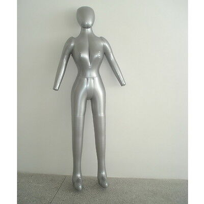 New Woman Whole Body With Arm Inflatable Mannequin Fashion Dummy Torso Model JXD