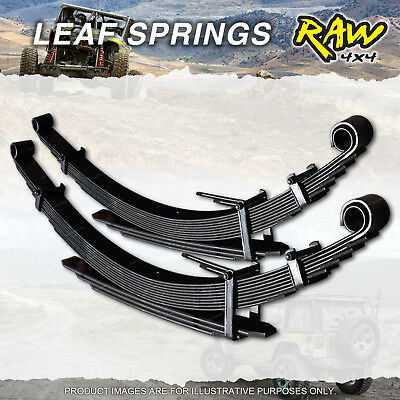 PAIR Rear 40mm RAW 4X4 HD LEAF SPRING FOR FORD RANGER PX 2011 on