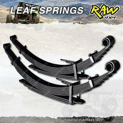 PAIR Front 50mm Lift Raw 4x4 HD LEAF SPRINGS TOYOTA LANDCRUISER 75 SERIES 84-93