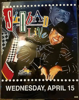 Sinbad Live Autographed Advertisement Board April 15Th Star Of The Desert Arena