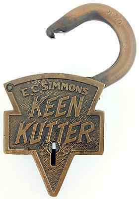 Antique KEEN KUTTER Brass Padlock
