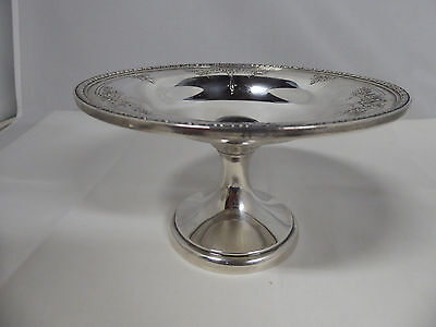 Vintage Scrolls Weighted Sterling Silver Compote
