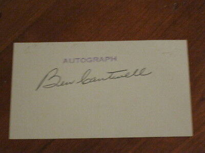 Ben Cantwell Autographed Index Card JSA Auction Certified