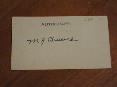 Red Bullock Autographed Index Card JSA Auction Certified