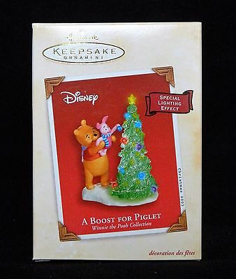 Hallmark Ornament Disney A Boost for Piglet Winnie the Pooh Special Light Effect