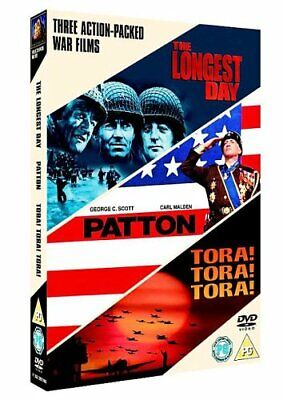 The Longest Day/Patton/Tora! Tora! Tora! [DVD] - DVD  BCVG The Cheap Fast Free
