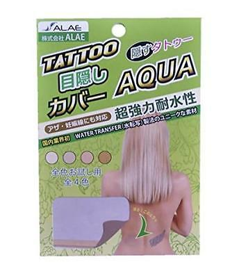 NEW Tattoo Cover AQUA All 4 Colors Trial Water Transfer Waterproof ALAE Japanese