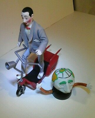 Vintage 1988  Matchbox Pee-Wee Herman Action Figure w/ Scooter & globey