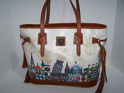 Disney Dooney and Bourke Small World Handbag, Tote, Retired, New with Tags