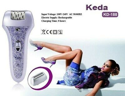 2 In 1 Depilator Lady Ladies Body Hair Removal Remover Epilator Rechargeable NEW