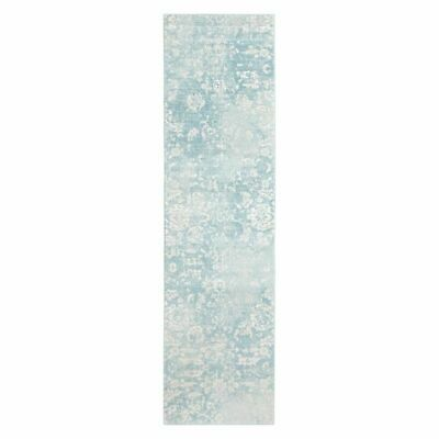 NEW Rug Culture Torre Oriental Runner Rug in Blue, Grey, Multi-Coloured