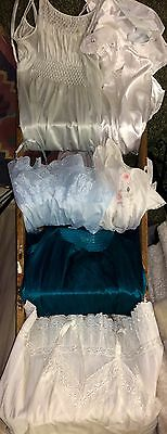 Victoria Secret Lot Of 6 Vintage Full Slips Gown Lace Lingerie Bust 32-36 Resale