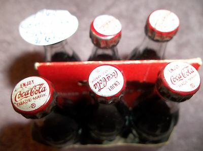 Mini Coke Bottles Six Pack  Mint Condition The Real Thing Enjoy Coca Cola