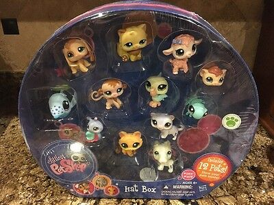 Littlest Pet Shop Target Exclusive Hat Box with 12 Pets #1664-#1675 NEW Rare