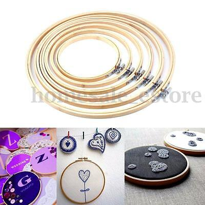 5PC/set Wooden Cross Stitch Embroidery Ring Hoop Bamboo Sewing Craft 13-27cm