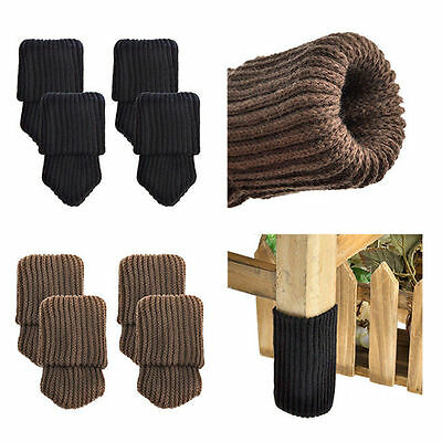 4pcs Furniture Cover Knit Socks Floor Protector Thicken Chair Table Leg Pads Set