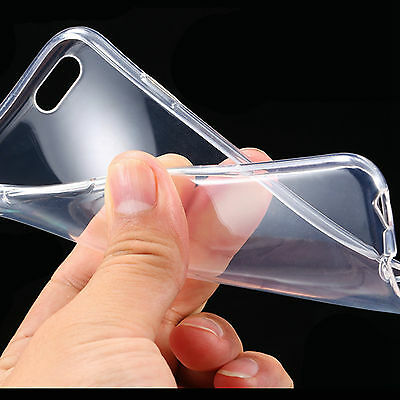 TPU Soft Slim Case back Cover Ultra thin For iPhone6 6S Plus Clear Transparent 0