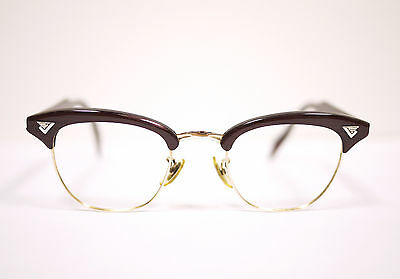 Vintage 50's American Optical 44 Sirmont Malcolm X Gold-filled 12kgf Eyeglasses