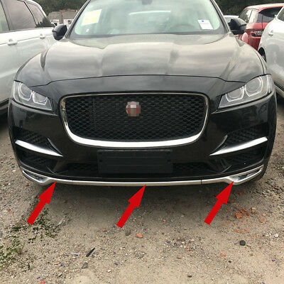Fit For Jaguar F-pace 2016 2017 2018 Chrome ABS Car Front Bumper Protector Trims