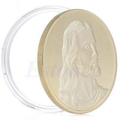 Jesus The Last Supper Souvenir Token Gold Plated Coin Art Collectible Christmas