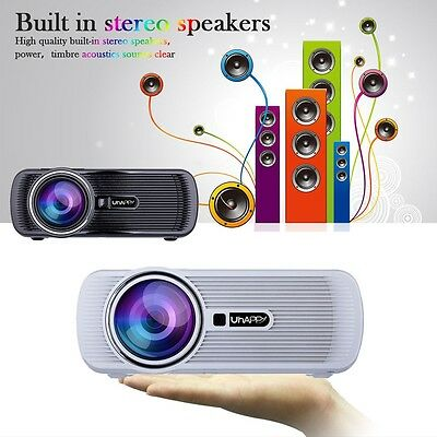 3000 Lumens HD Home Cinema Multimedia LED/LCD Projector HDMI//VGA/AV/3D DQ