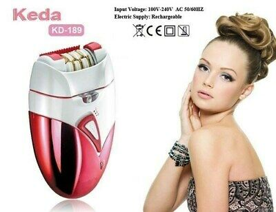 New RECHARGEABLE Epilator Lady Ladies Hair Removal Trimmer Depilator Remover LED