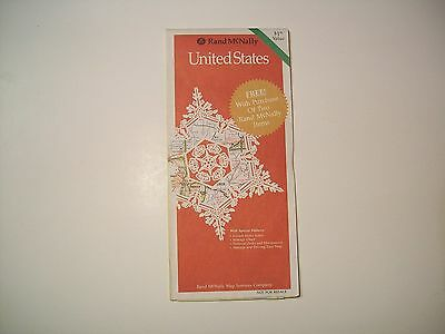 VINTAGE 1989 RAND McNALLY UNITED STATES HIGHWAY ROAD MAP fold out MILEAGE CHART