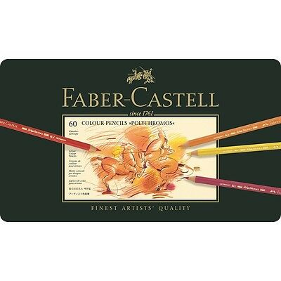 Faber Castell Polychromos Tin 60 Free Postage
